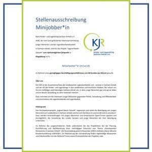 """Stellenausschreibung im Projekt """"Jugend Macht Zukunft"""""""